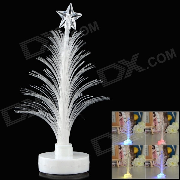 Christmas Tree Shaped LED Night Lamp w/ Sticker - White (2 x LR1130) 65cm 18cm 110cm led christmas tree lamp