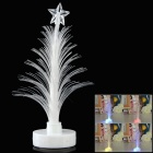 Christmas Tree Shaped LED Night Lamp w/ Sticker - White (2 x LR1130)