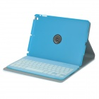 Protective Portable Bluetooth v3.0 64-Key Keyboard w/ PU Case / Keyboard Film for IPAD 5 - Blue