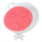 Robot Style MP3 Player w/ TF Slot / Mini USB - White + Pink
