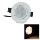 Zhouming UHSD653 3W 210lm 3000K 3-LED Warm White Light Ceiling Lamp - White (AC 100~240V)