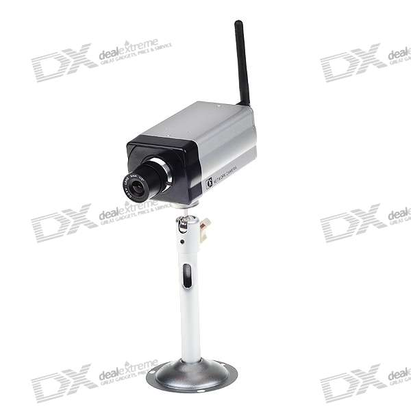 H.264 300K Pixel Color CCD Wifi IP Camera with SD Card Slot (32GB Max.)