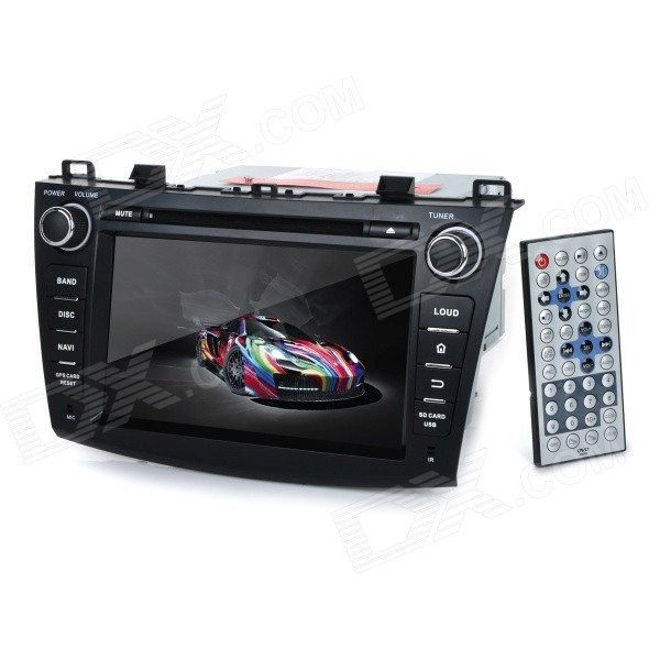 KLYDE KD-8003 8 Android Dual-Core Car DVD Player w/ 1GB RAM / 8GB Flash / GPS / Wi-Fi for Mazda 3 планшет prestigio multipad grace 3118 pmt31183gccis black mediatek mt8321 1 2 ghz 1024mb 8gb wi fi bluetooth cam 8 0 1280x800 android