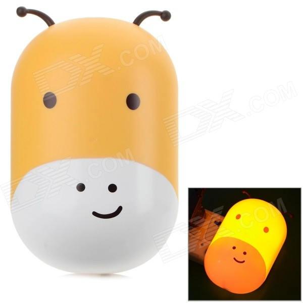 Cute Animal Shaped 2W 30LM Warm White Light Wall Night Lamp w/ Light Control - White + Yellow (220V) joy automatic 318 bigquad