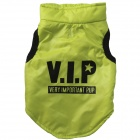 VIP Pattern Cotton-Padded Warm Vest for Pet Dogs - Fluorescent Green (M)