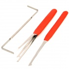 Jiahui B098 Steel Quick-Picking Lock Pick Tool Set - Red + Silver