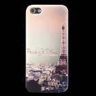 Effiel Tower Pattern Ultra-thin Protective Soft TPU Back Case for IPHONE 5 / 5S - Brown + Black