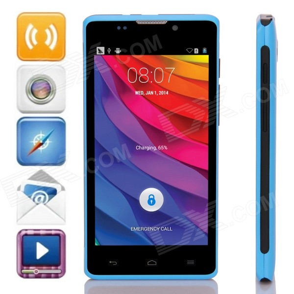 L960 SC7715 Android 4.4.2 WCDMA Bar Phone w/ 4.5
