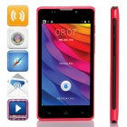 "L960 SC7715 Android 4.4.2 WCDMA Bar Telefon w / 4,5 ""Screen, 2 GB ROM, FM, Wi-Fi - rot + schwarz"