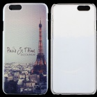 "Thin Protective Eiffel Tower Pattern PC Back Cover Case for IPHONE 6 4.7"" - Brown + Multicolored"