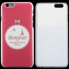 "Thin Protective Bonjour Pattern PC Back Cover Case for IPHONE 6 4.7"" - Red + Pink"