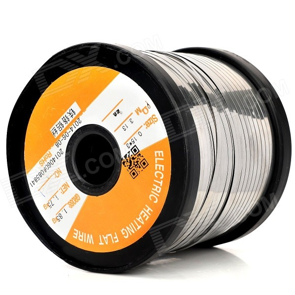Aluminum Electric Heating Flat Wire - Silver (1000m)