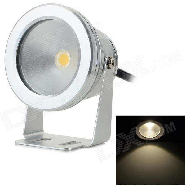 JRLED IP65 10W 600LM 3200K Warm White Light LED Spotlight - Silver + Black (AC 85~265V) системный блок lenovo s200 mt j3710 4gb 500gb dvd rw dos клавиатура мышь черный 10hq001fru