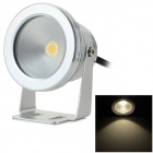 JRLED IP65 10W 600LM 3200K Warm White Light LED Spotlight - Silver + Black (AC 85~265V)