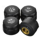 4-Sensor Wireless External TPMS Tire Pressure Temperature Monitoring System Displayed on Car DVD