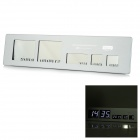 "3.2"" / 2.2"" / 1.3"" Screen Aluminum Alloy Panel Digital Clock w/ Calendar - Silvery White + Black"