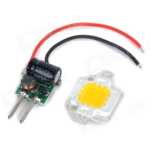 JRLED 10W 600lm 3300K Warm White Light LED Emitter w/ Power Supply Driver Board