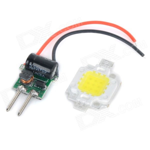 JRLED 10W 600lm 6500K White Light LED Emitter w/ Power Supply Driver Board