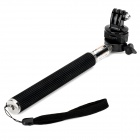 Handheld Aluminum Alloy Monopod + Tripod Adapter + Holder for GoPro Hero 2 / 3 / 3+ / SJ4000 - Black