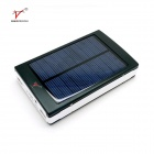 SP50000 Dual USB 35000mAh Solar Power Bank w/ Flashlight - Black+White
