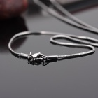 KCCHSTAR Cool 316 Stainless Steel w/ Artificial Diamond Pendant Necklace - Black + Silver