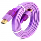 1080P HDMI Male to Male Lighting Audio / Video Cable - Light Purple (105cm)
