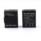 SMJ G-658 Smart Dual-Slot Charger + 2-301 1300mAh Batteries Travelling Set for GoPro Hero 3+ / 3