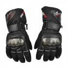 PRO-BIKER Motorcycle Thickened Warm Waterproof Racing Gloves - Black (Pair / Size M)