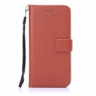 "ENKAY Protective PU Leather Case w/ Stand and Card Slots for IPHONE 6 4.7"" - Brown"