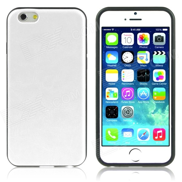 ENKAY Protective Soft Silicone Back Case for IPHONE 6 PLUS 5.5 - White protective silicone soft back case cover for iphone 5 white