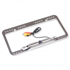 Universal Waterproof Night Vision CMOS Backup License Plate Camera - Chrome