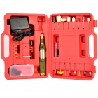WLXY WL-800 DIY Electric Drill Handle + Bit + Grinding / Polishing Tool Set - Red + Multicolored