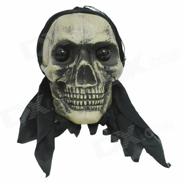 qk-08 Horrible House Decoration Haunted Skull Prop Mask - Black dr horrible and other horrible stories