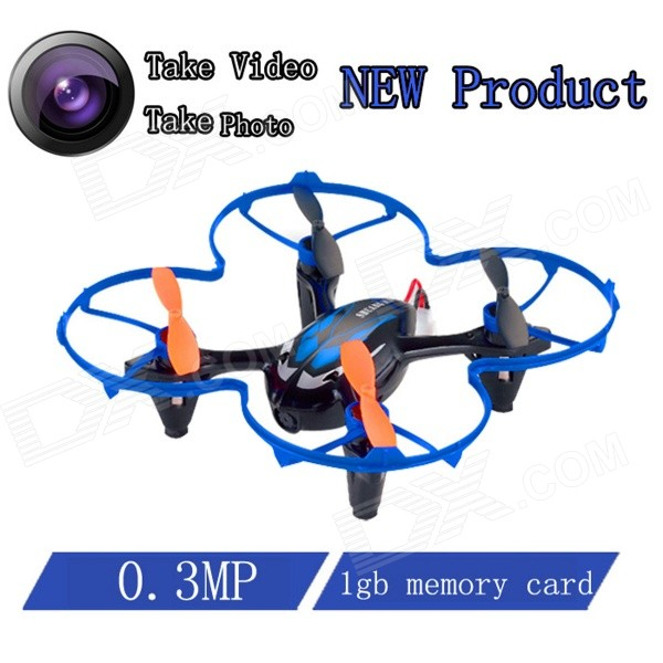 Brilink BH20 Mini 4-CH 2.4GHz Aerial Photography R/C Aircraft w/ 0.3MP Camera / 1GB TF Card - Blue