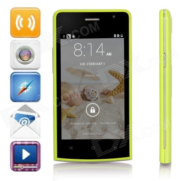 G5 SC7715 Android 4.4.2 WCDMA Bar Phone w/ 4.0