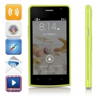 "G5 SC7715 Android 4.4.2 WCDMA Bar Phone w/ 4.0"" Screen, 2GB ROM, FM, Wi-Fi - Green + Black"