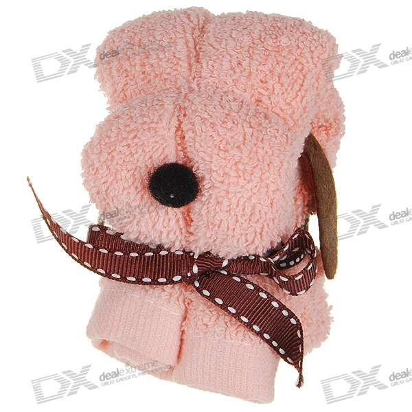 Cute Mini Dog Shaped Towel Gift (Color Assorted)