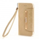 "Fashionable Purse Style PU + TPU Full Body Case w/ Card for IPHONE 6 4.7"" - Golden"