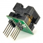 SOP8 to DIP8 Programming Adapter Socket Module - Black + Green (150mil)