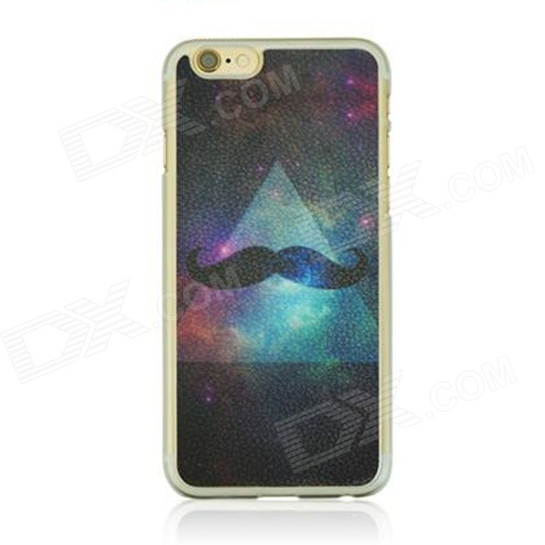 все цены на Starry Sky + Mustache Pattern Protective PC Back Case Cover for IPHONE 6 4.7
