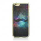 "Starry Sky + Mustache Pattern Protective PC Back Case Cover for IPHONE 6 4.7"" - Black + Multi-color"
