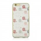 "Cute Owls Pattern Protective PC Back Case for IPHONE 6 4.7"" - Transparent + White + Multi-Color"