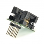 SOP8 to DIP8 Programming Adapter Socket Module - Black + Green (205mil)