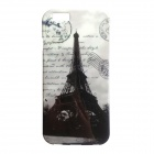 "Eiffel Tower Patterned Protective Soft TPU Back Case Cover for IPHONE 6 4.7"" - Black + Grey"