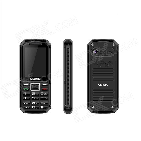 NOAIN 007 IP67 Waterproof Dustproof Shockproof Quad-core GSM Phone w/ 2.4, Dual SIM, GPS - Black hummer h5 3g smartphone 4 0 capacitive screen mtk6572 dual core 1 3ghz 512mb 4gb dual sim card waterproof shockproof dustproof gps smart phone unlocked