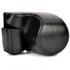 Water Resistant Protective PU Bag w/ Strap for Sony A5000 / A5100 - Black