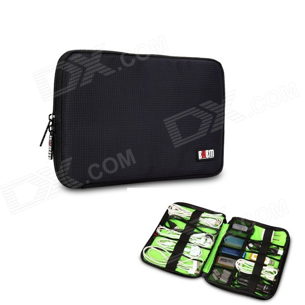 BUBM Portable Digital Accessories Nylon Storage / Organizing Bag - Black (Size S) spark storage bag portable carrying case storage box for spark drone accessories can put remote control battery and other parts