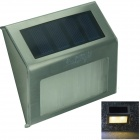 YouOKLight 0.2W 3500K 2-LED Warm White Light Control Solar Wall Lamp - Silver