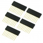 10pin 2.54mm Female Pin Headers - Black (5PCS)