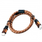Yellow Knife YK72 HDMI 1.4 Male to Male Digital HD Connection Cable - Brown + White (1.5m)